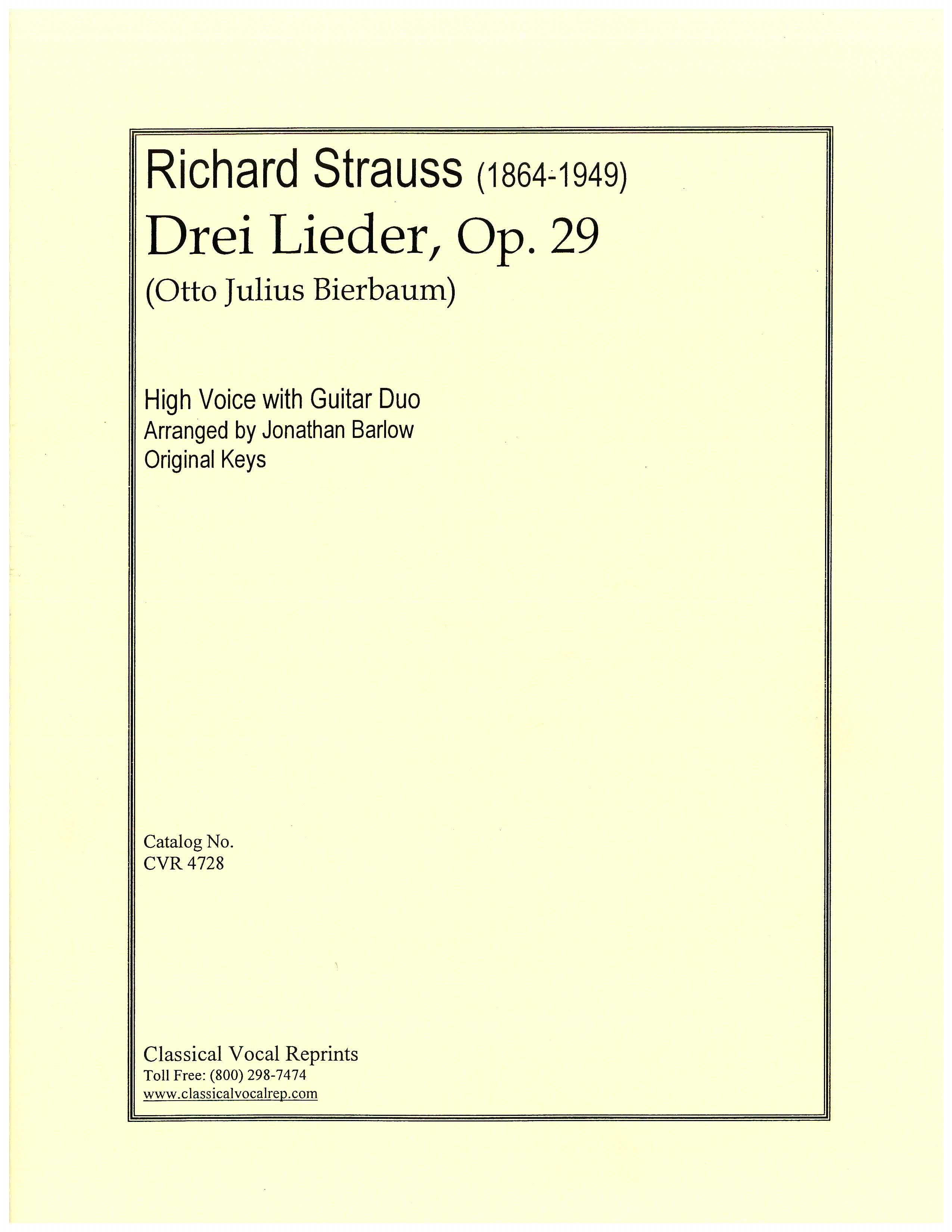 Drei Lieder, Op. 29